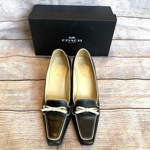 Coach Made in Italy Black Leather Marcella Heels
